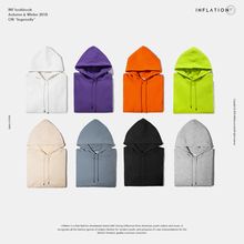 INFLATION 2018 Autumn Mens Thick Fleece Hoodies Hip Hop Pure Hoodies Thick Velvet Fabrics Winter Hoodies For Men Women 167W17 (China)