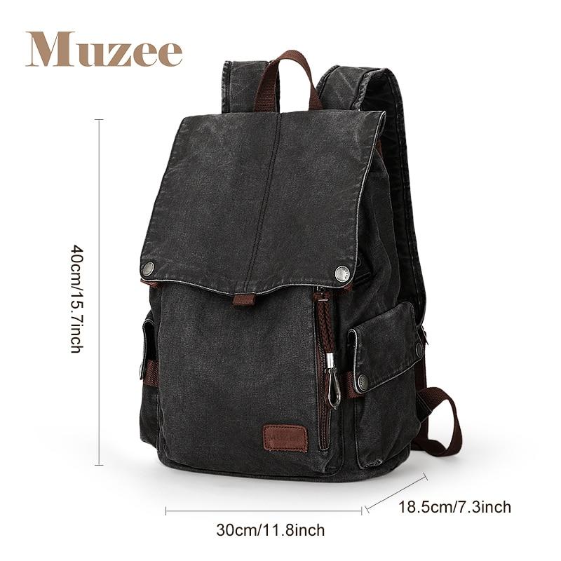 Muzee collège sac à dos hommes USB Port de charge Anti-vol Bookbag 15.6 pouces sac à dos pour ordinateur portable école hommes voyage Daypack 1883 - 2
