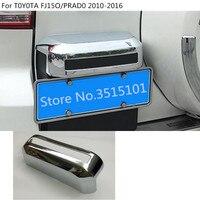 Car body styling rear back license plate towing frame trim 1pcs For Toyota FJ150 / Prado 2010 2011 2012 2013 2014 2015 2016
