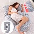 Женская u-подушка  многофункциональная хлопковая Удобная Подушка для беременных  подушка для сна от талии до стороны  подушка для сна для бе...