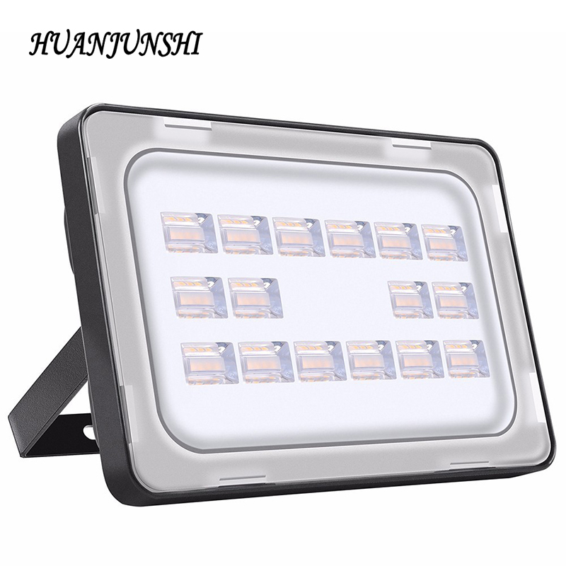 Led Flood Light 50W 220V Waterproof IP65 Ultrathin Floodlight Spotlight Outdoor Lighting LED Reflector Lamp Garden Garage Light ultrathin led flood light 200w led floodlight ip65 waterproof 220v 110v led spotlight outdoor lighting