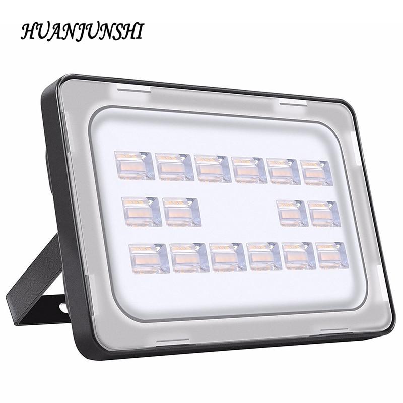 Led Flood Light 50W 220V Waterproof IP65 Ultrathin Floodlight Spotlight Outdoor <font><b>Lighting</b></font> LED Reflector Lamp Garden Garage Light