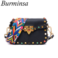 Hot Rivet Mini Flap With Wide Strap Women S Rockstud Clutch Bags Designer Brand High Quality
