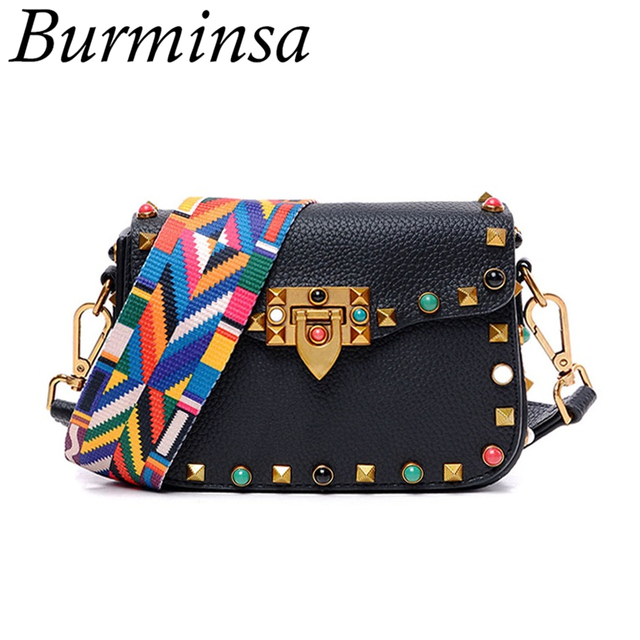 Hot Rivet Small Flap Shoulder Crossbody Bags Designer Brand Ladies Clutch Hand Bags High Quality PU Leather Women Messenger Bags