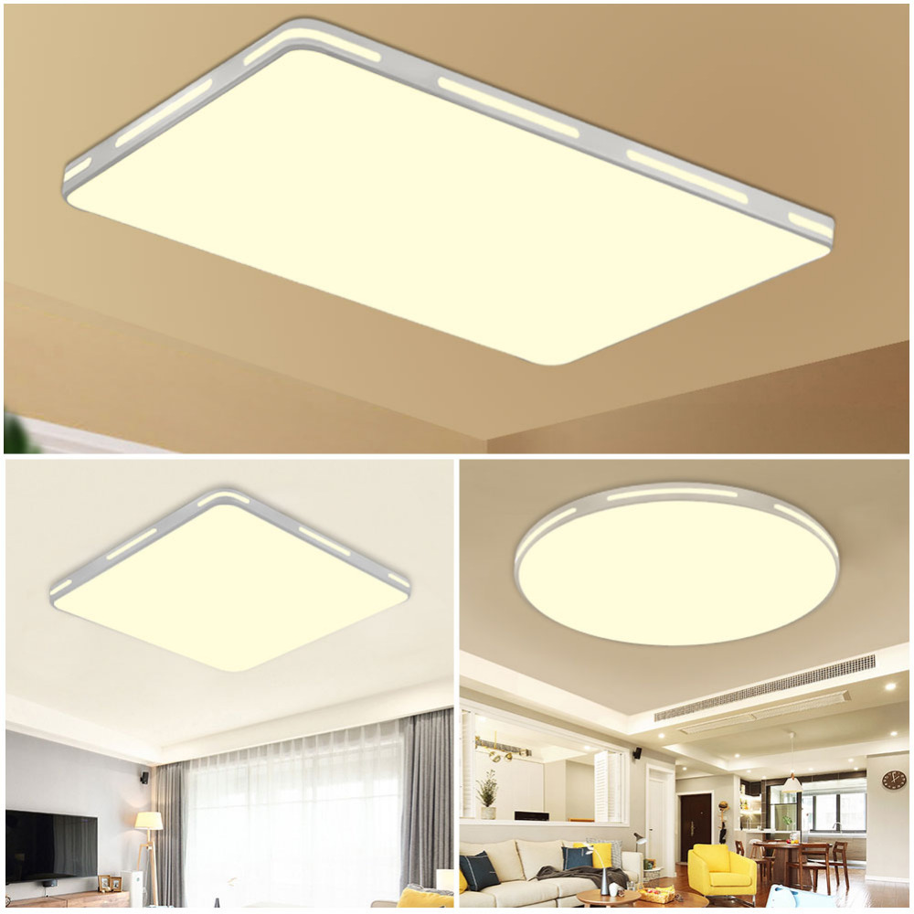 Ceiling Lights & Fans Lamplab Led Ceiling Light Modern Lamp Living Room Lighting Fixture Bedroom Kitchen Surface Mount Flush Panel Remote Control Soft And Light