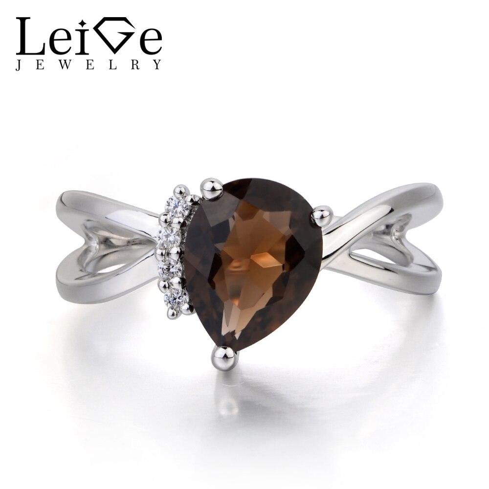 7.5 7 Smokey Quartz Sterling Silver Ring Natural Gemstone two designs size 6.5