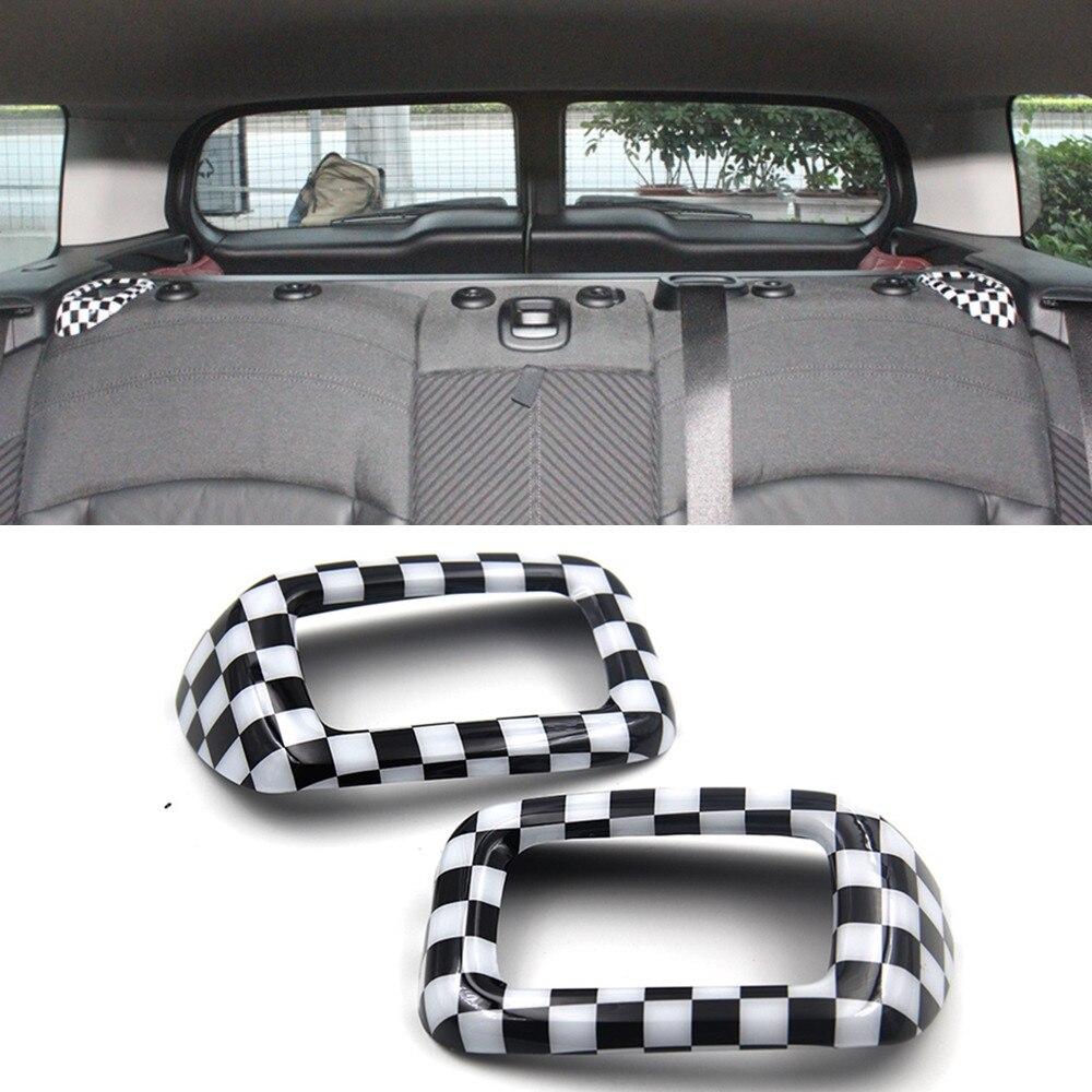 2 pièces ABS Voiture Retour ceinture de sécurité Boucle Couverture Trim Pac décoration pour MINI COOPER Clubman F54 Style Intérieur Accessoires