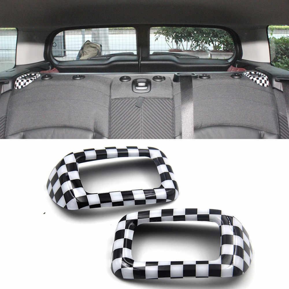 2 pièces ABS voiture siège arrière sécurité ceinture boucle couverture garniture casquette décoration pour MINI COOPER Clubman F54 intérieur style accessoires