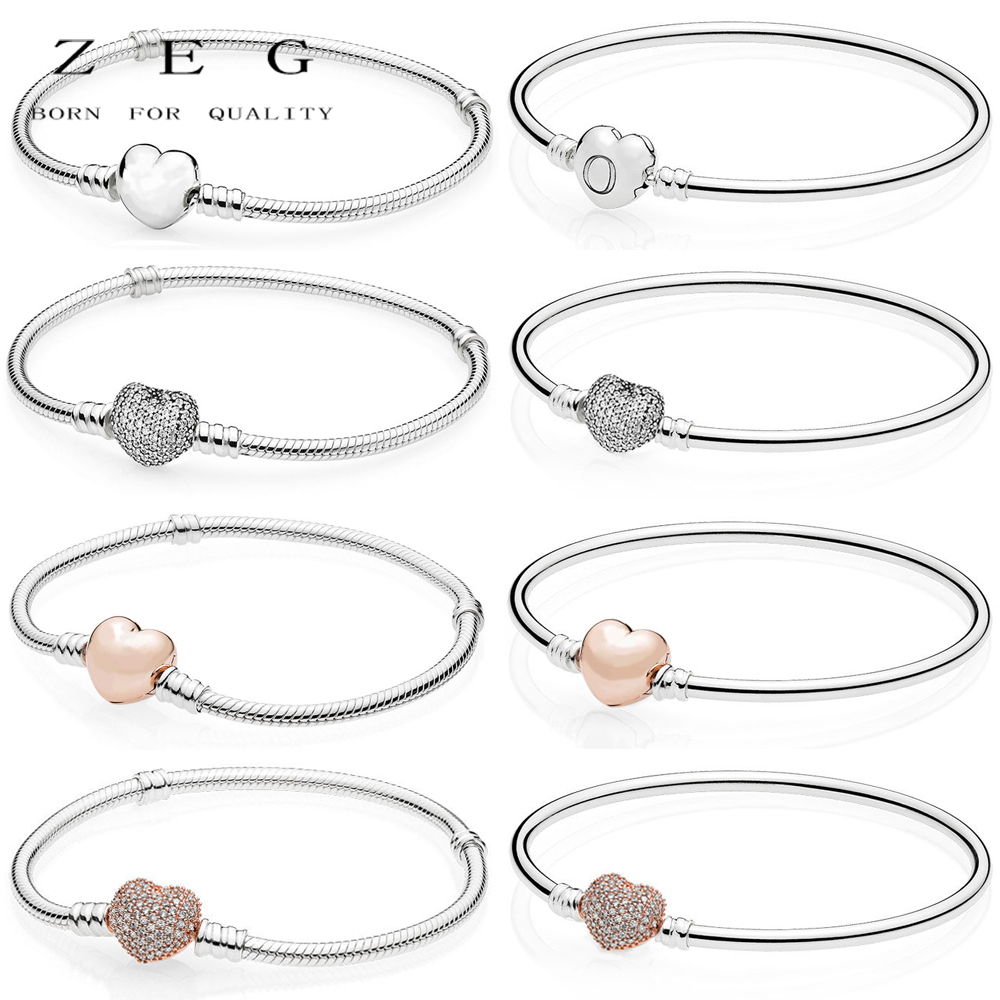ZEG High Quality 100% Sliver Official Copy 1:1 Pan & Love Bracelet Have Logo Women Fashion Jewerly Free Mail with logo sliver