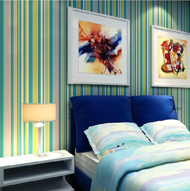 Colore A Righe Sfondi per pareti Camera Da Letto Wallpaper Ragazze ...