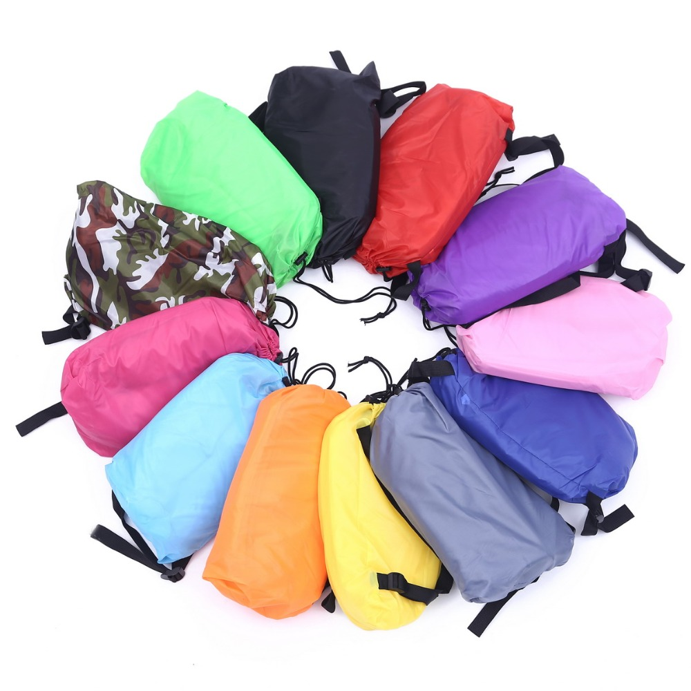 12colour Drop ship Beach lay bag Hangout sleep Air Bed Lounger laybag Outdoor fast folding sleeping inflatable air sofa lazy bag