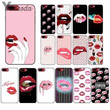 Yinuoda Sexy Girl Kylie Jenner Lips Kiss Soft Silicone black Phone Case for Apple iPhone 8 7 6 6S Plus X XS MAX 5 5S SE XR Cover