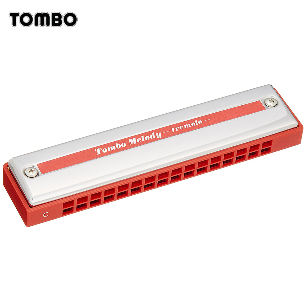 цена на Tombo Melody Tremolo 16 Harmonica 16 Holes 32 Reeds Tremolo Harp Key of C Musical Mouth Organ Brass Reeds Beginner ABS Comb 2116