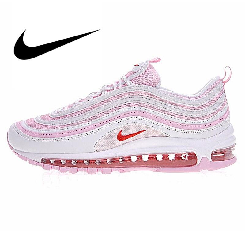 Nike AIR MAX 97 OG Femmes de Cerise Poudre Balle chaussures de course Sneakers Dames Marche Jogging Top Qualité de Sport Designer