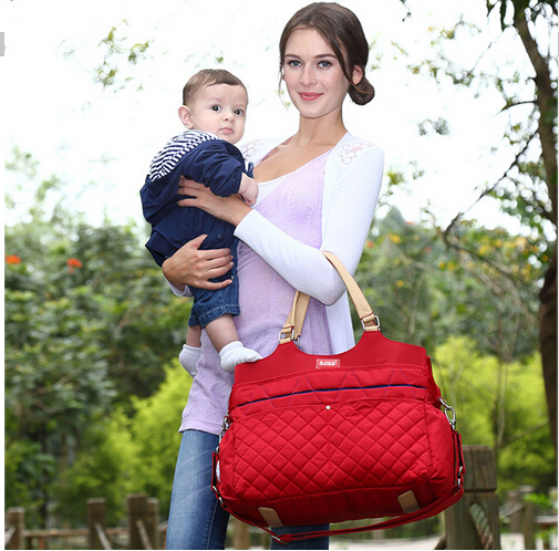 New Brand Fashion Mummy Bag Argyle Checked Quilted Baby Diaper Nappy Bag Baby Bag mance 13colors new fashion brand