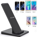 10W Fast Qi Wireless Charger Charging Pad for Samsung Galaxy S6/S6 edge/Note 5/S7/S7 edge Stand Quick Wireless Charger