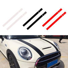 JEAZEA dWm2754536 черный, белый, красный Винил Автомобильный капот в полоску капот наклейка крышка для MINI Cooper R50 R53 R56 R55