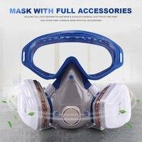 Силиконовые полный респиратор анти-Пылезащитная маска очки химическая Пылезащитная противопожарная краска DJA99