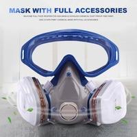 Силиконовый полностью респиратор противопылезащитная маска очки химическая Пылезащитная противопожарная краска DJA99