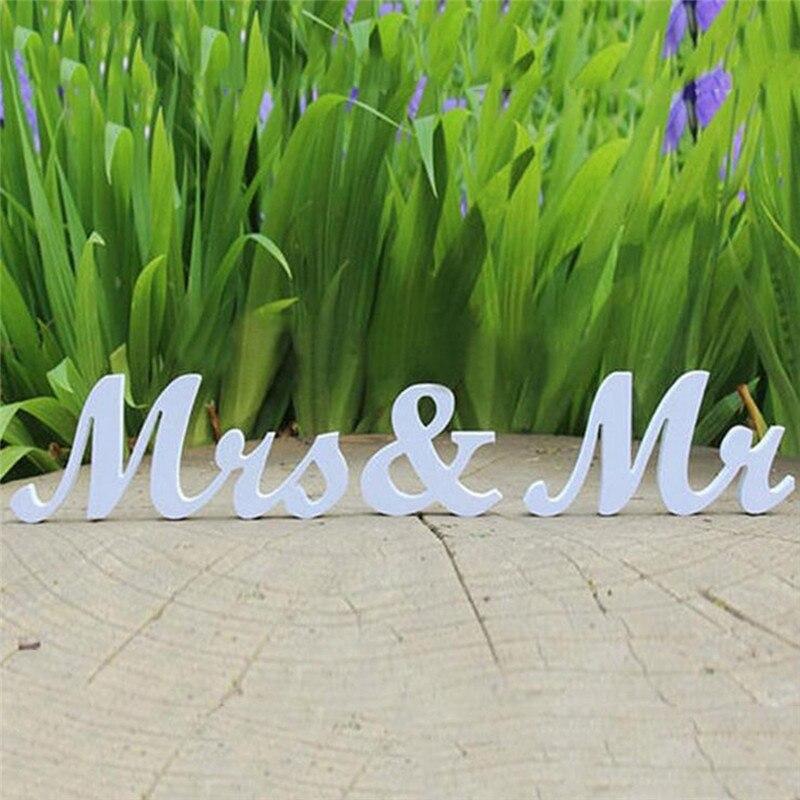 1 компл. imixlot белый Цвет мистер и миссис Деревянные Буквы Знак украшения комнаты деревянный корабль товары для дома