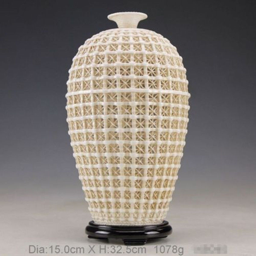 Uitgebreide Vintage handwerk Chinese Dehua porseleinen uitgehold - Huisdecoratie - Foto 5