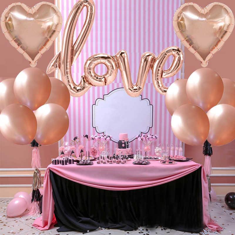 Chicinlife розовое золото невесты быть буквенным фольгой шар тиара Корона оголовье бриллиантовое кольцо шар девичник товары для девичника