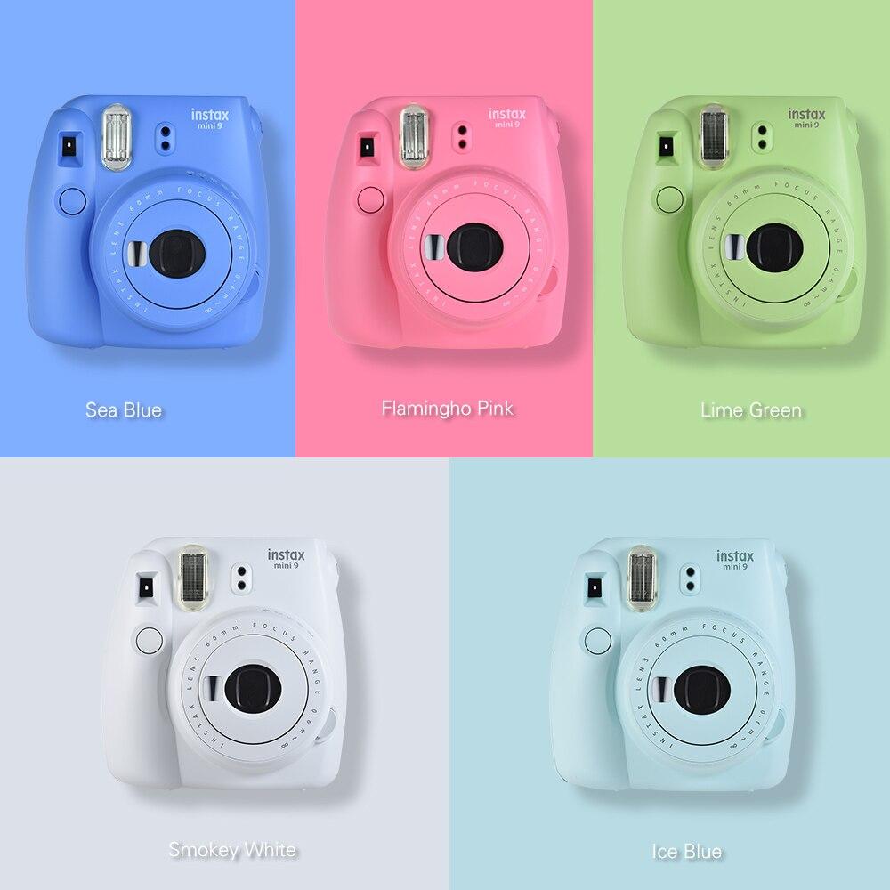 5 Colors Fujifilm Instax Mini 9 Instant Camera Photo Camera + 30 Sheets Fujifilm Instax Mini Film + 13 in 1 Kit Camera Bag Case