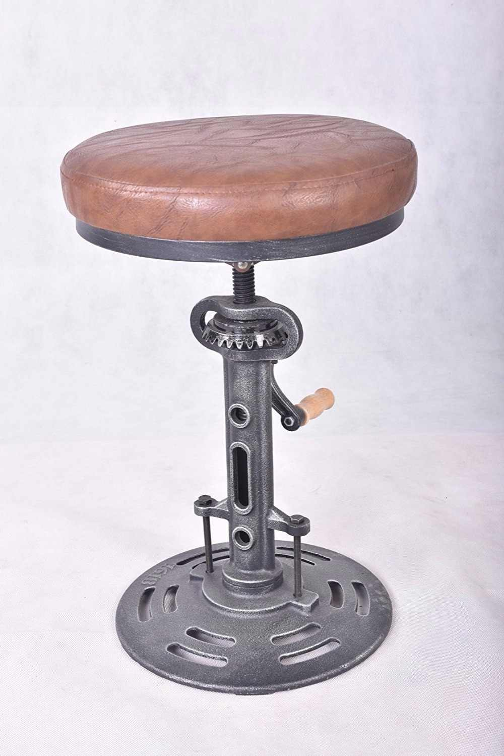 Marvelous American Antique Industrial Bar Stool Diy Crank Handle Cafe Frankydiablos Diy Chair Ideas Frankydiabloscom