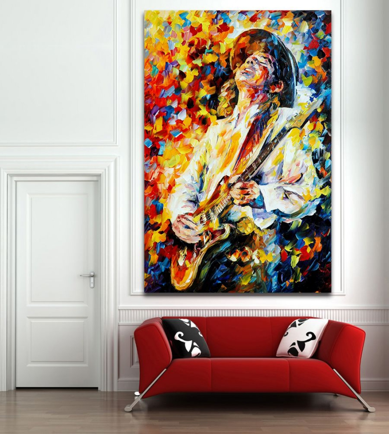 Abstract Music Instrument Melody Oil Painting Canvas Modern Decoration Handmade Home Office Hotel Wall Art Decor