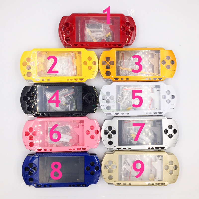 3 Set Housing Shell Case Cover Replacement for PSP1000 PSP 1000 Game Console Housing Case Cover