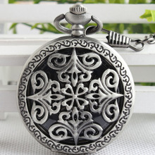 Vintage Classic Steampunk Silver Pocket Watch Men Auto Stainless Steel Mens Woman mechanical pocket watch Free
