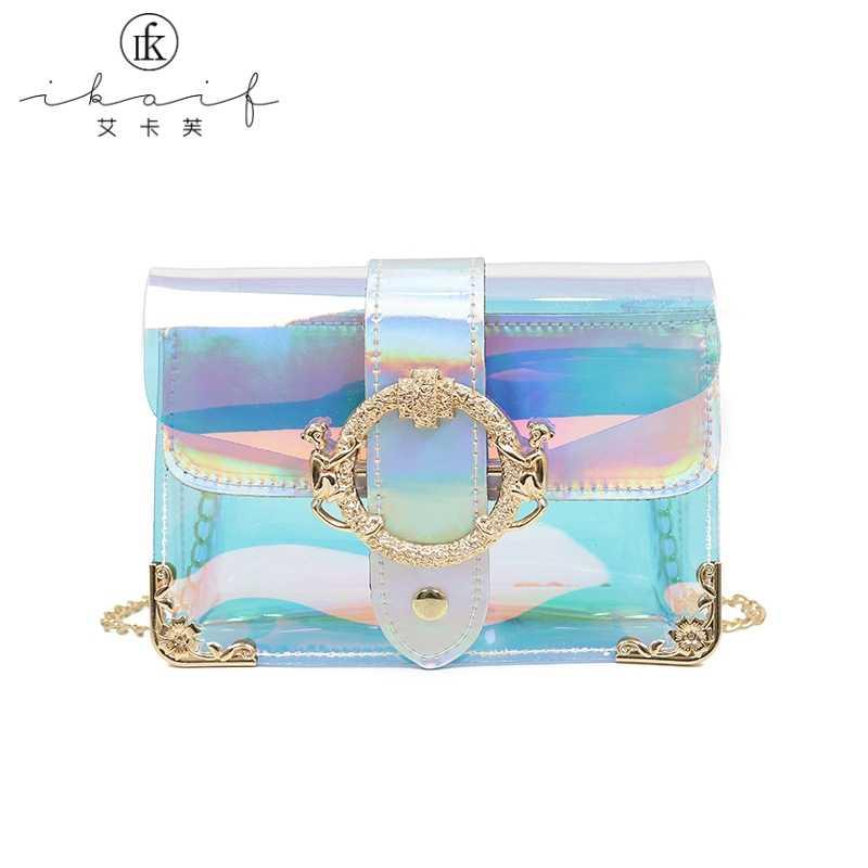 29844a43e714 Women Handbag Purses Messenger Bag Jelly Shoulder Bag PVC Small ...