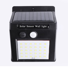 High Power Solar Panel Charge Led Street Light Body Sensor Outdoor Waterproof Garden Lamp