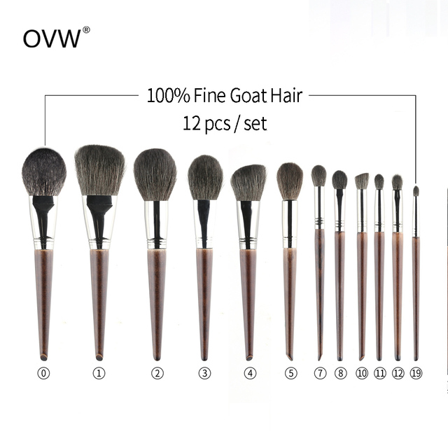 OVW Goat Hair Small Precision Pointed Shader Brush Natural Pencil Crease Goat Hair Detail Make Up Brushes Tools kist' dlya teney 2