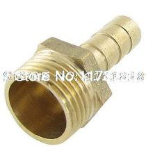 16.2mm OD Threaded 8mm Air Pneumatic Gas Hose Barbed Fitting Coupling