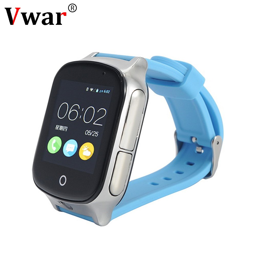 Vwar 3G GPS Elder Kids Smart Watch A19 Multi-Positioning With SOS Call Remote Monitoring Camera Watch for IOS/Android все цены