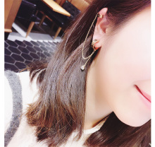 2017 New Style Gold Tassels Clip Earring For Women Ear Cuff Earring Personality Fashion Jewelry Hot