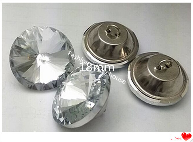 Furniture Accessories 18mmSoft-wrapped Crystal Buttons, Crystal Gemstone Flower Buttons Sofa Buttons, Background Wall Decoration