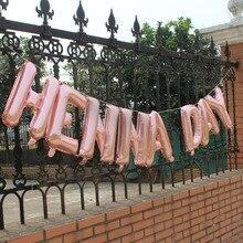 Свадебные хна день вечерние декоративная Растяжка золотые воздушные шары флаги украшения