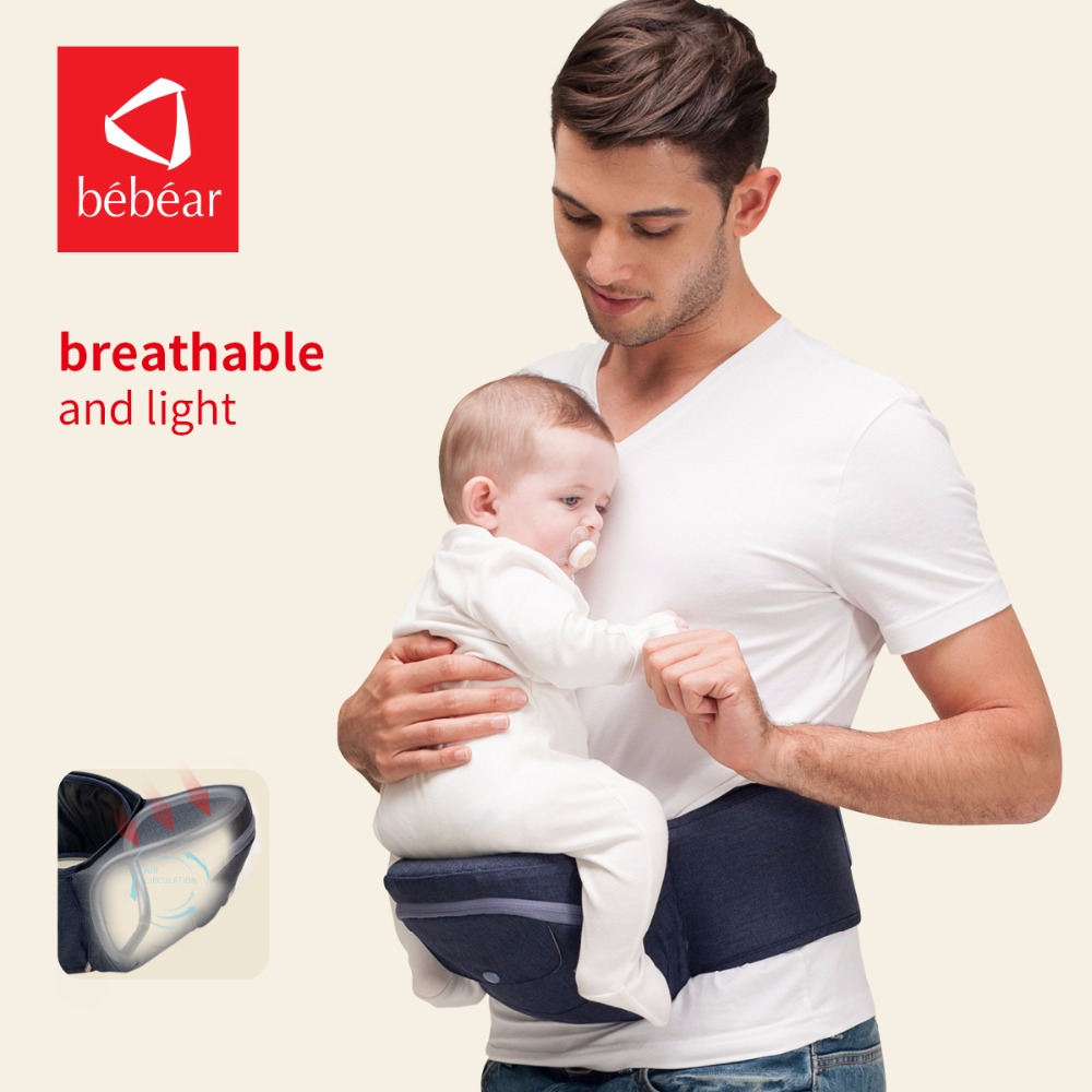 Bebear hipseat for prevent o-type leg aerospace aluminum core Ergonomic baby carriers manduca backpacks save effort kid sling tcyd baby backpacks carriers with hipseat colorful sling front carry face to face polyester activity gear 12 styles page 1