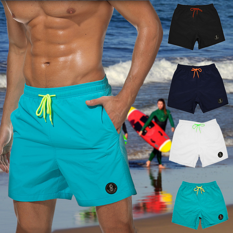ZaiyuXio Mens Fashion Swim Trunks Beachwear Board Shorts Quick Dry with Mesh Lining