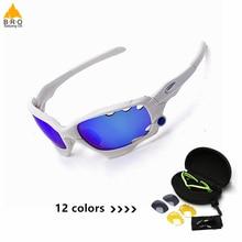 Поляризованные Велоспорт Солнцезащитные очки Открытый спортивный велосипед очки велосипедные очки 3 объектива