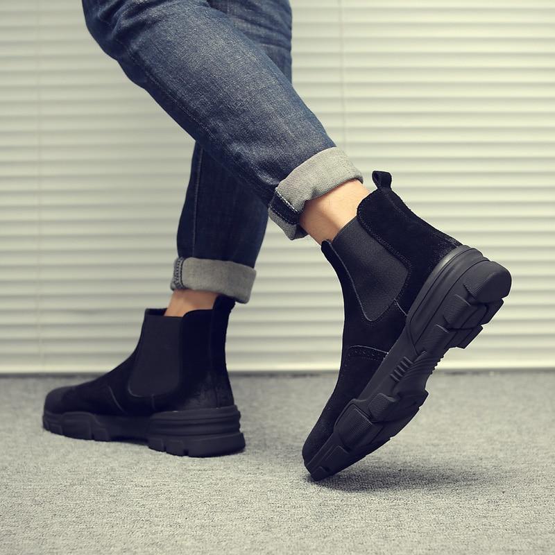 De Socks Désert Bottes» Taille Socks Militaire Socks on Chelsea Grande Hommes Slip With Mode Tactiques Occasionnel 11 black Armée gray Cheville Boots Bottes Hiver 46 Beige dqtWW41n