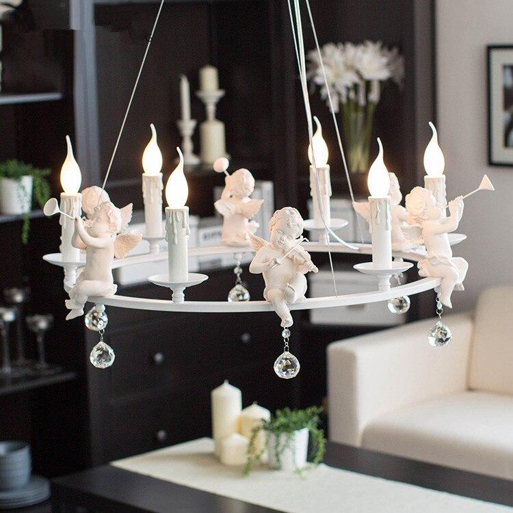 Modern Art led chandelier led lamps living room resin Angel Chandeliers crystal Chandelier E14 led lustre light Chandelier free shipping e14 led lamps factory wholesale modern gold crystal chandelier cheap crystal chandelier ac 100