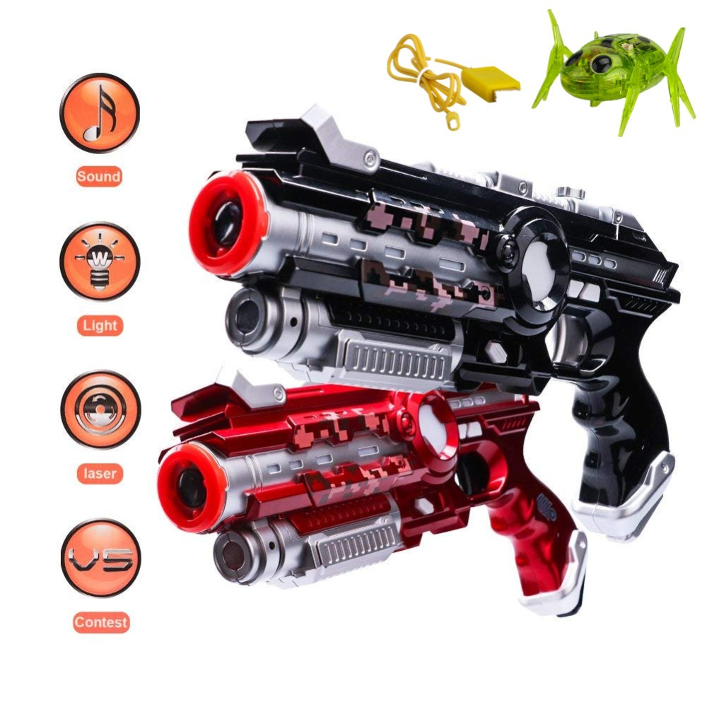 Laser Toy Guns Outdoor Electric Light Battle Toy Tag Gun Infrared Sensor 2pcs CS Game Toy Plastic Electric Gun With Laser Spider