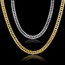 Vintage Long Gold Chain For Men Chain Necklace Trendy Gold Color Stainless Steel