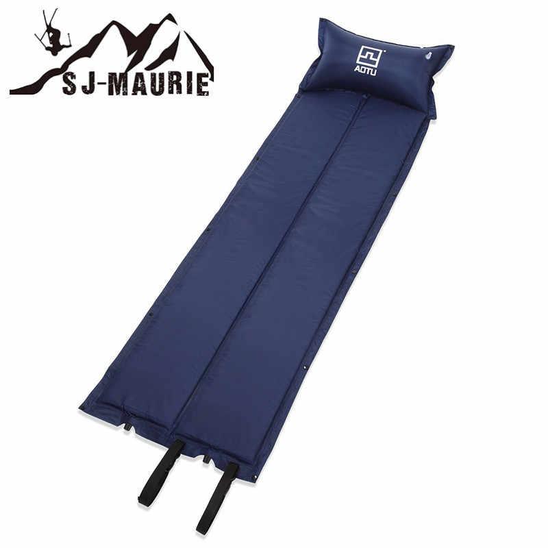 Estera de Camping impermeable inflador externo que acampa al aire libre cojín inflable para dormir estera de barbacoa picínica estera de una sola almohada cama de Camping