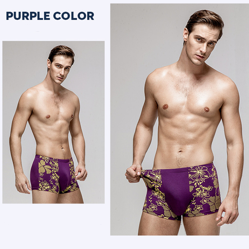 Plus Size Modal Mens Boxer Underwear Soft Stretch Short Leg No Ride up Breathable Boxers Homme Breathable calzoncillos XL-7XL