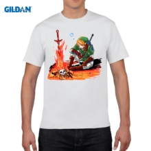 GILDAN casual t-shirt  Dark Link The Legend Of Zelda Skull Print T Shirt Hipster Clothes Funny Cool Top Tee