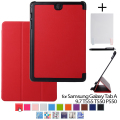 "Оригинал Tab 9.7 кожаный чехол кожи shell case for samsung GALAXY Tab A 9.7 T555 T550 T550 P550 9.7 ""tablet case + stylu + Пленка"